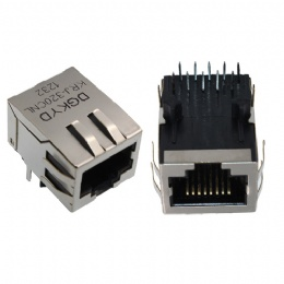 RJ45 connectors shield with LED