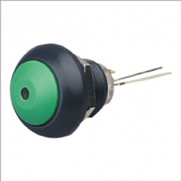 IP67 Rated Dome Pushbutton Switch Black
