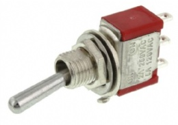 SPDT Toggle Switch, On-On, Panel Mount