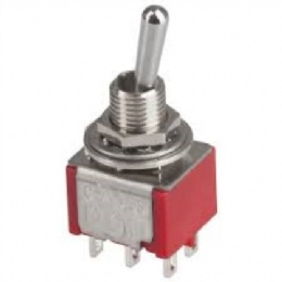 DPDT Miniature Toggle Switch - Solder Tag
